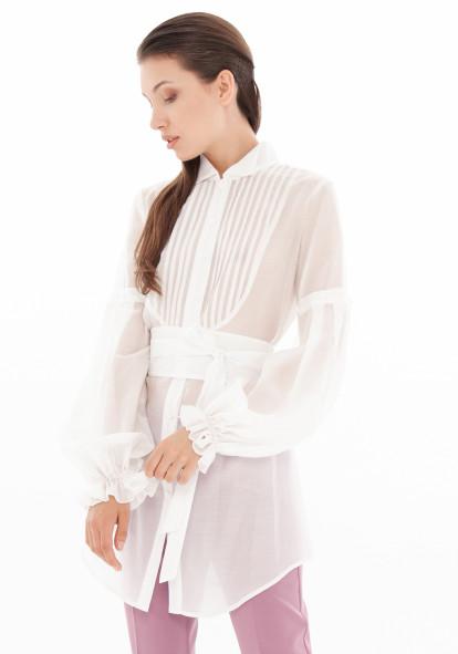 """Хлопковая белая блуза-трансформер """"Хлоя"""""""