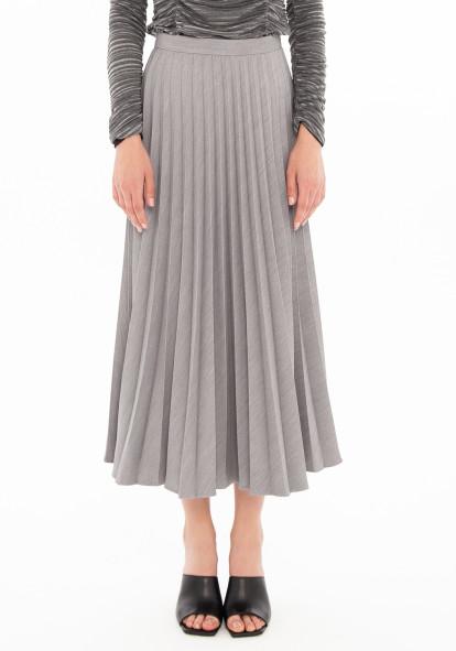 """Плиссированная юбка серого цвета """"Верда"""""""