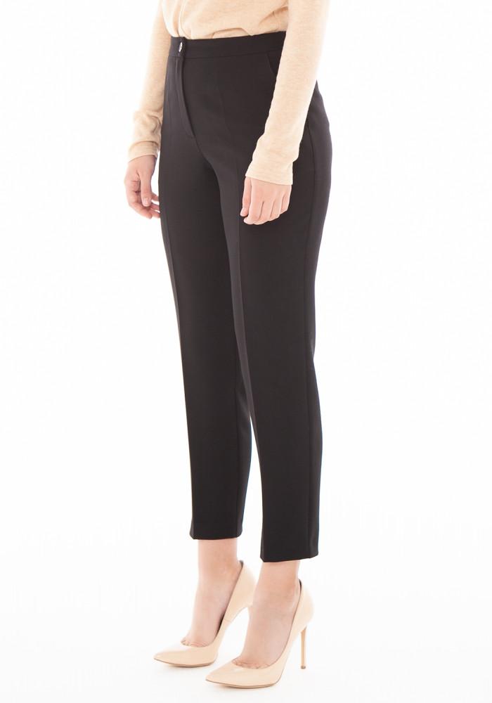 """Зауженные укороченные черные брюки """"Лайт 21"""