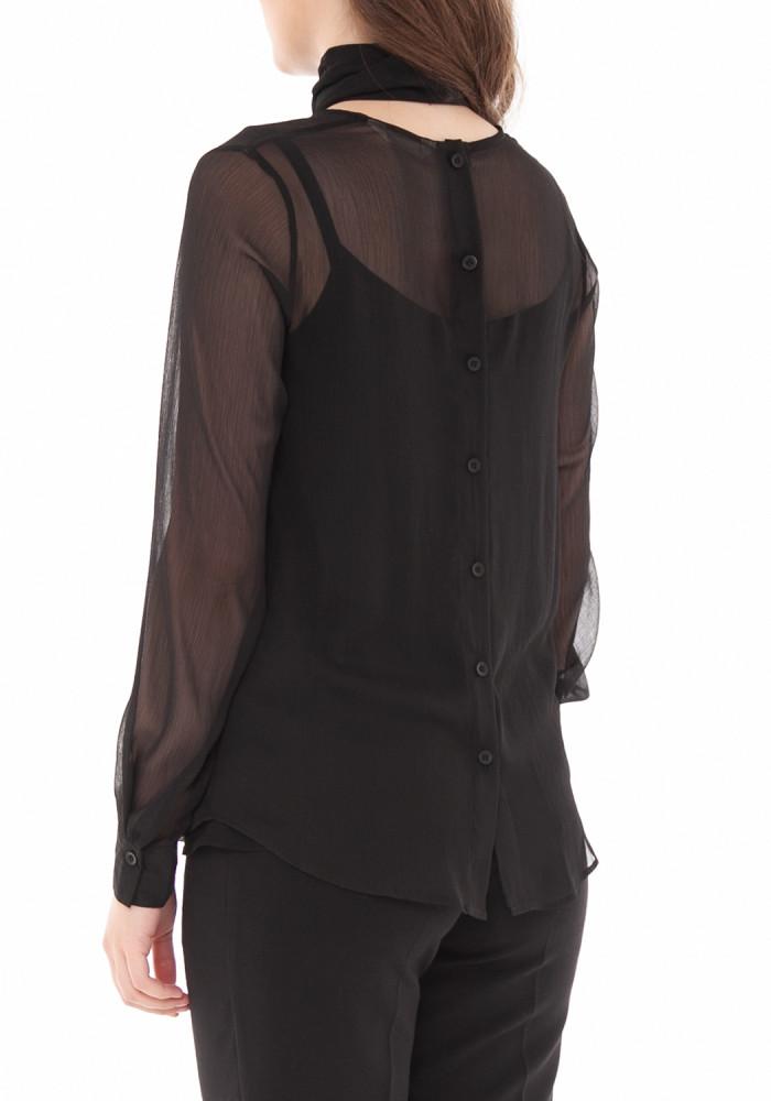 """Черная прямая блуза """"Луиза"""""""