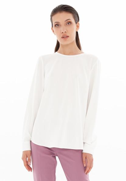 """Белая прямая блуза """"Луиза"""""""