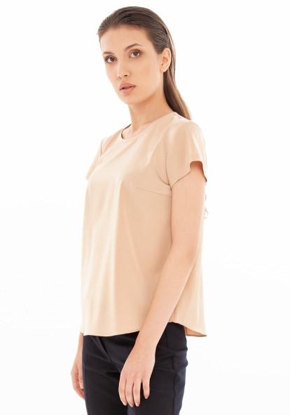"""Прямая блуза золотого цвета """"Луиза"""""""