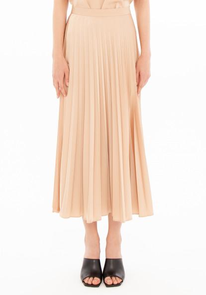 """Плиссированная юбка золотого цвета """"Верда"""""""