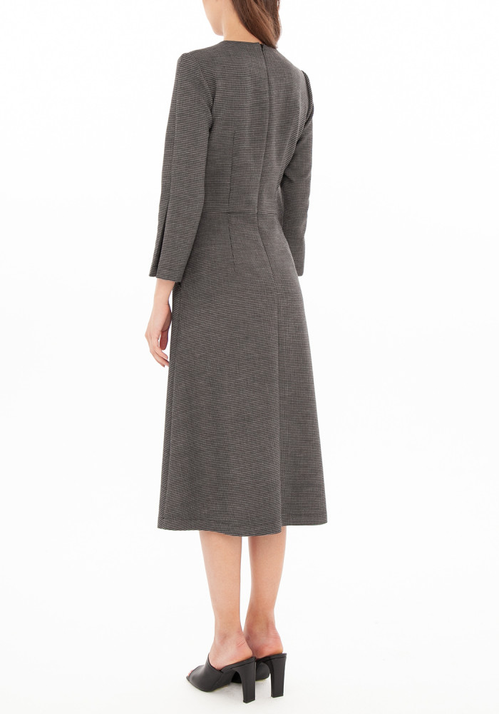 Dress in houndstooth print Dolores