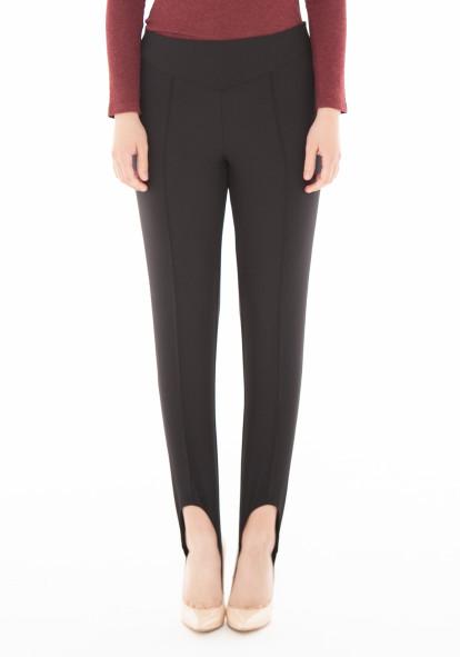 """Зауженные брюки со штрипками цвета черного дюшеса """"Цюрих"""""""