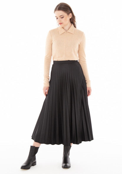 """Плиссированная юбка черного цвета """"Верда"""""""