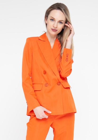 Long orange jacket William