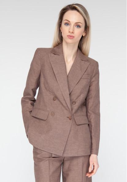 Cinnamon Long Linen Jacket William