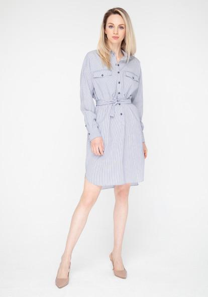 Вlue striped shirt dress Brandy