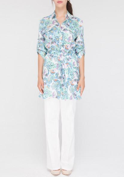 Linen long blouse Safari