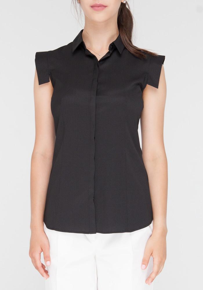 """Блуза з короткими рукавами """"Селін2"""" чорна"""