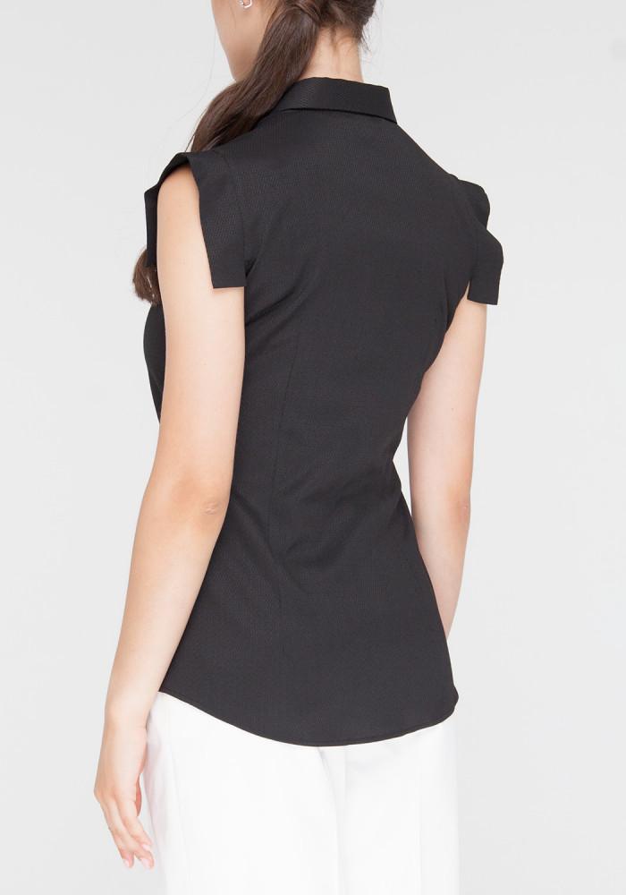 """Сорочка з короткими рукавами """"Селін2"""" чорна"""