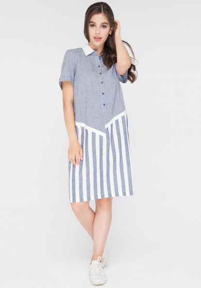Dress white and blue Venture