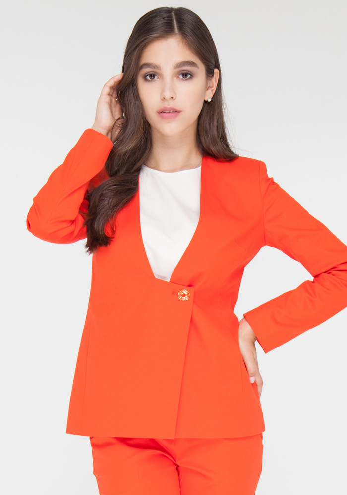 Jacket coral color Aperol