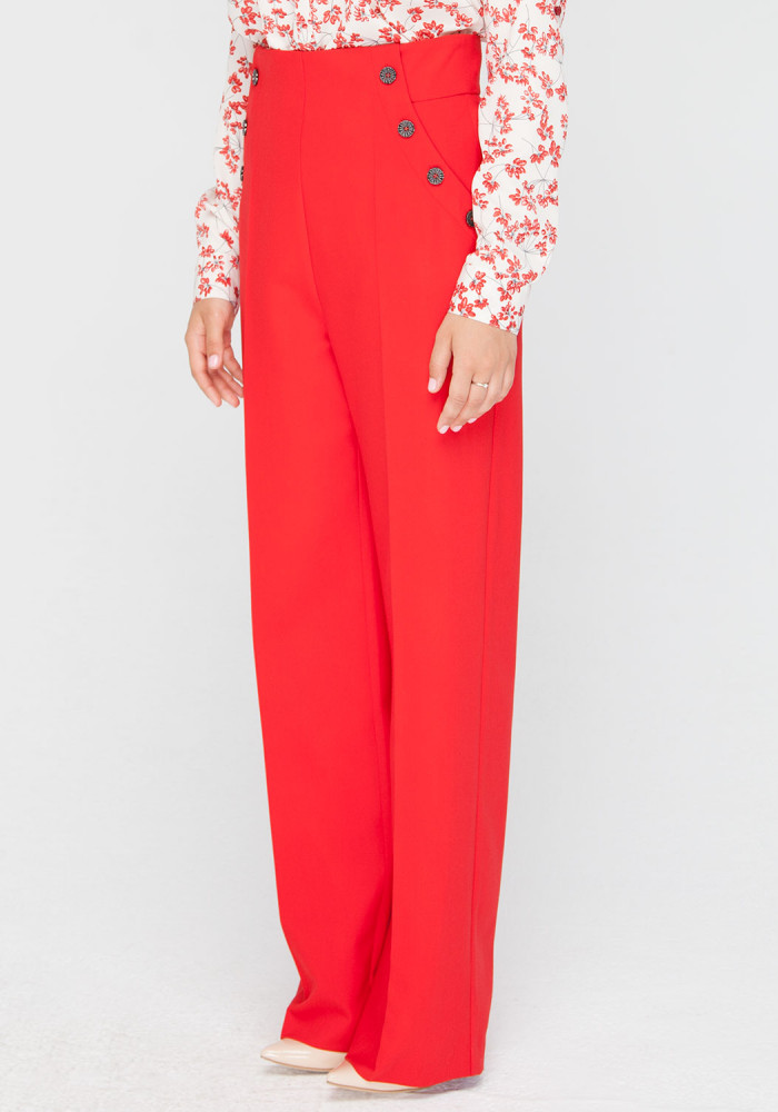 Red trousers Cherry