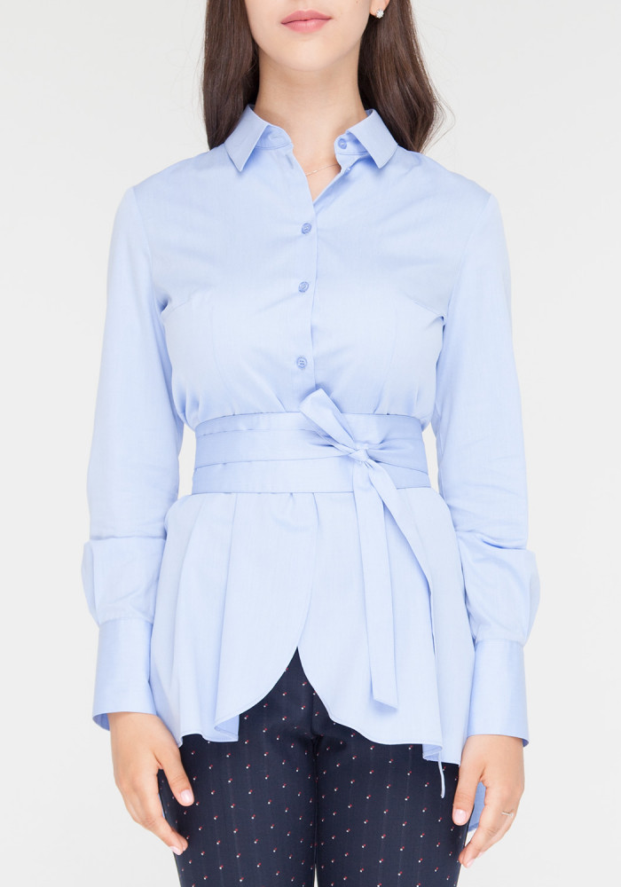 "Blouse with long sleeves ""Blues"" blue"