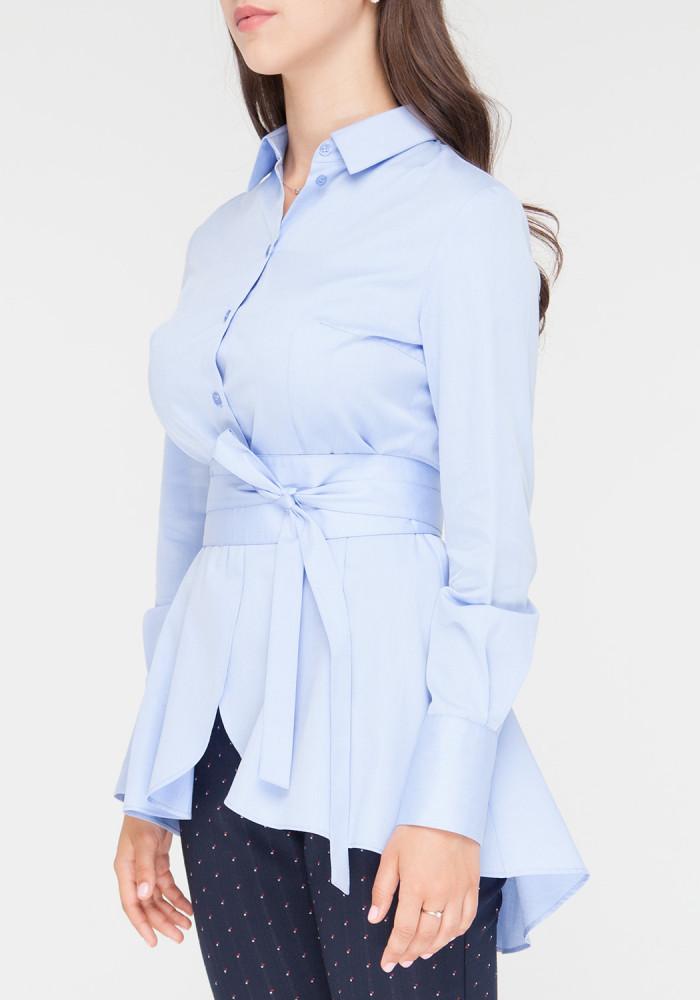 """Блуза с длинными рукавами """"Блюз"""" голубого цвета"""