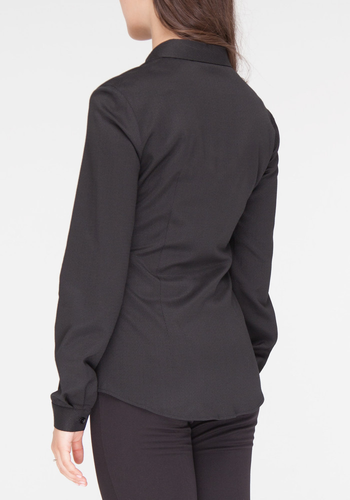 """Black fitted fitted shirt Chizana 3"""""""