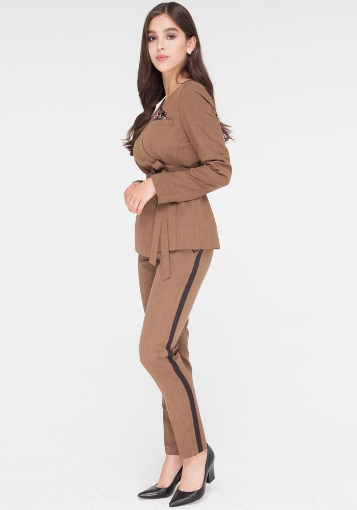 Brown Cropped  Skinny Pants Ibbi 3