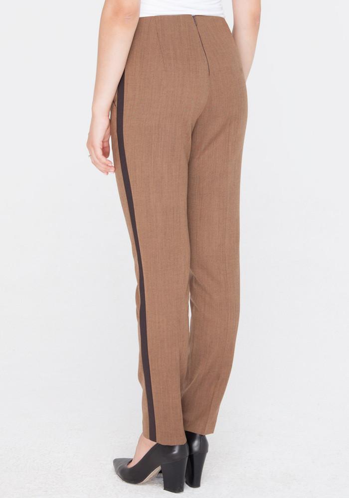 """Укороченые зауженые брюки """"Ибби3"""" коричневого цвета"""