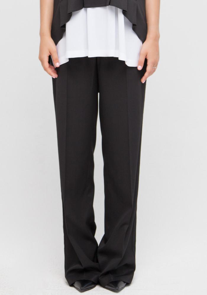 """Широкие брюки с высокой посадкой  """"Колизьони"""" черного цвета"""