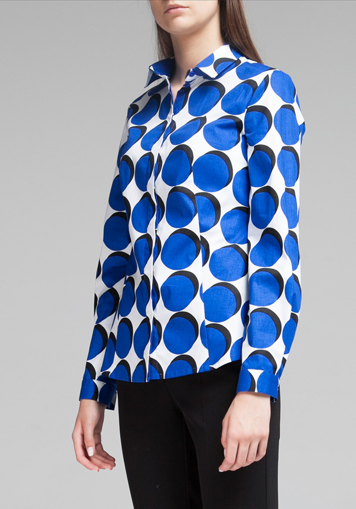 Cotton Blouse with geometric print Cisano