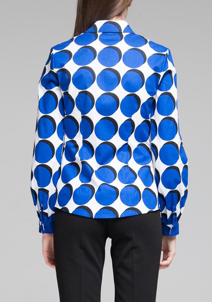"""Хлопковая рубашка """"Чизано"""" с геометрическим принтом"""