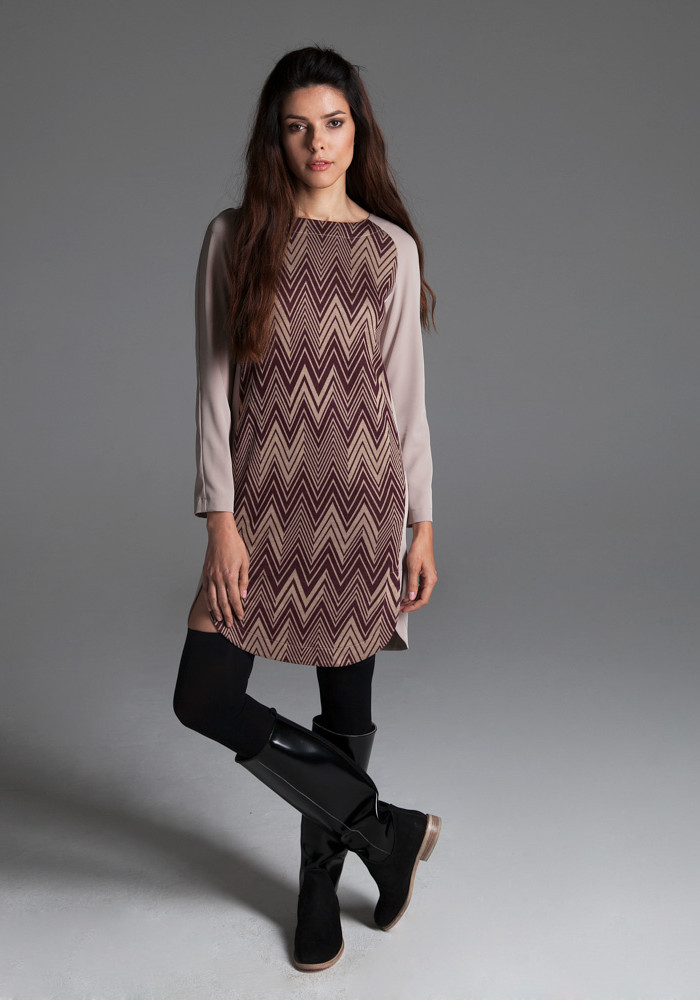 Dress with geometric print Celeste