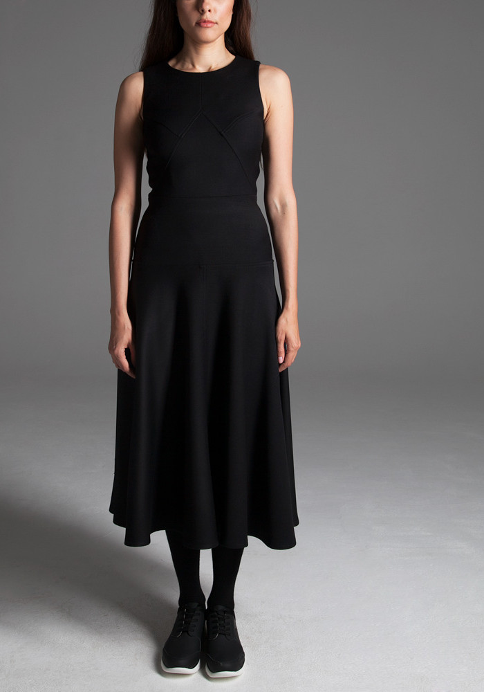 "Midi dress ""Leonora"" black"