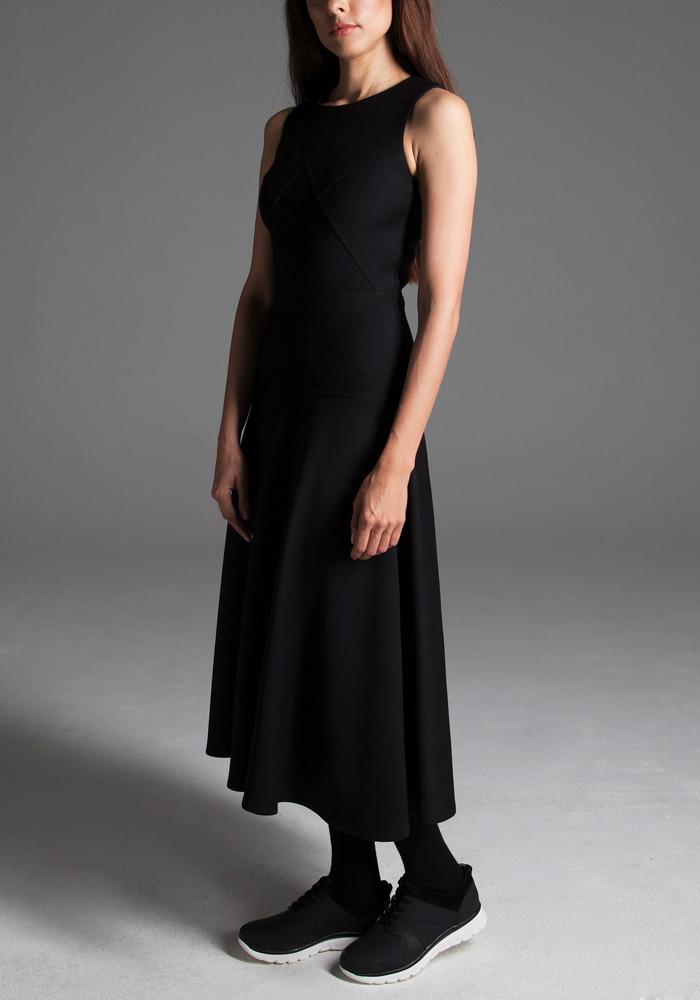 """Платье средней длины """"Леонора"""" черное"""