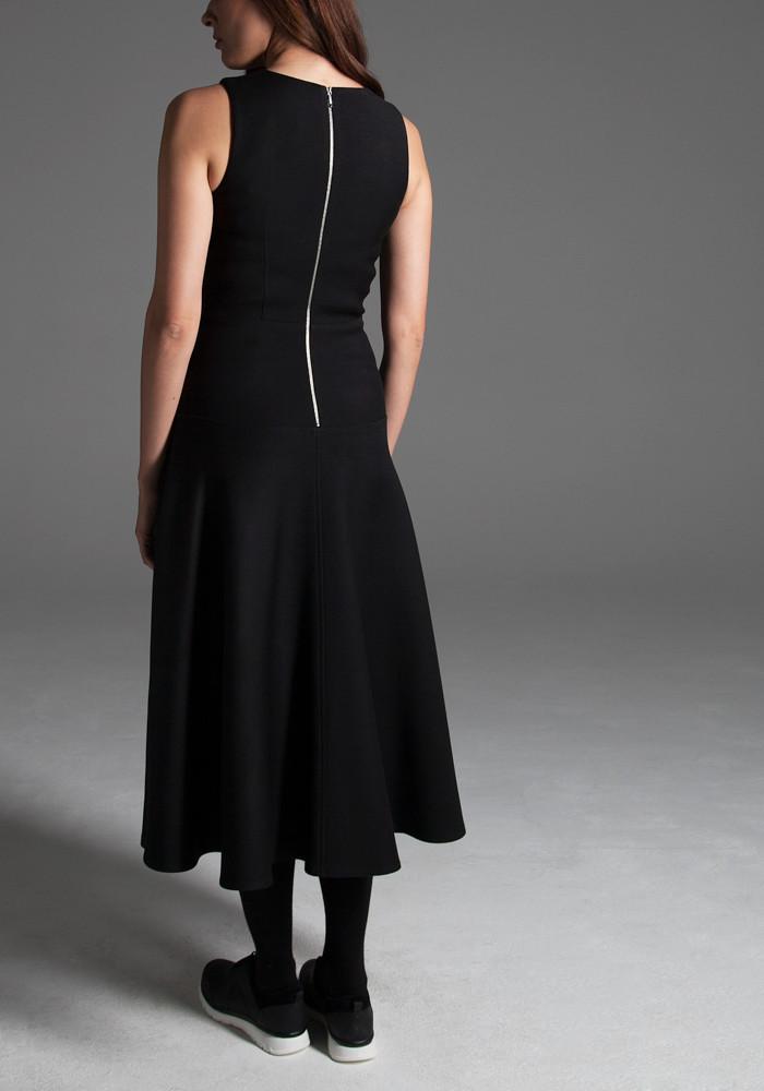 Midi black dress  Leonora