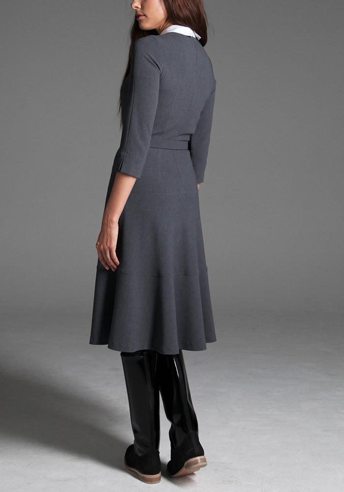 """Сукня сіра із поясом """"Пальміра"""""""