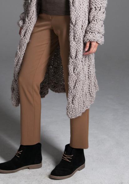 """Прямі світло-коричневі  штани """"Люсурі"""""""