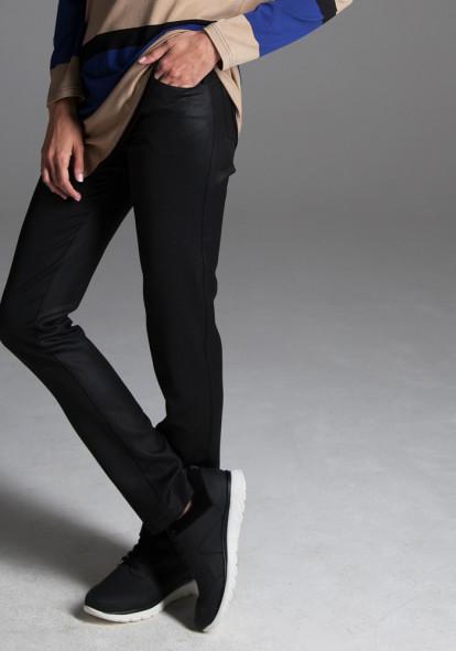 """Прямі штани кольору чорного графіту """"Рікко"""""""