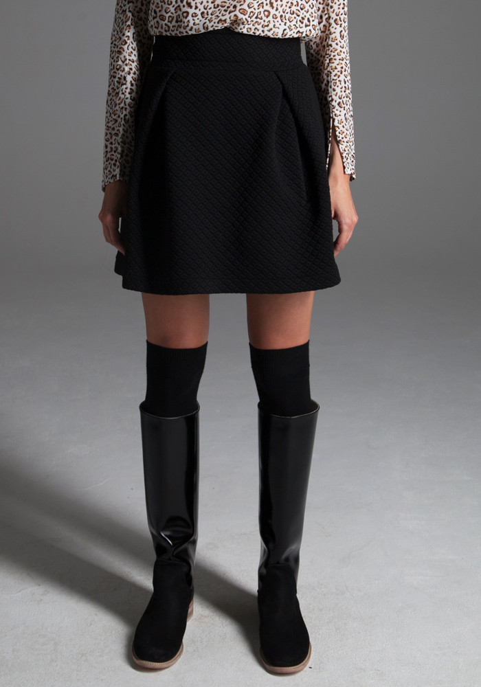 Skirt black-quilted Briton
