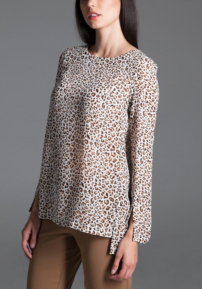 """Блуза """"Флоріс"""" із леопардовим принтом"""