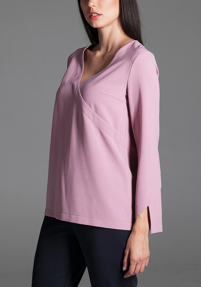 Blouse pink with imitation of wrap Imidg
