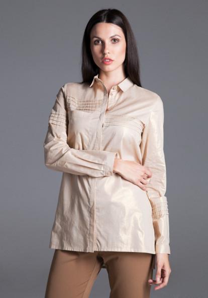 "Рубашка ""Эмилия"" с золотистым переливом"