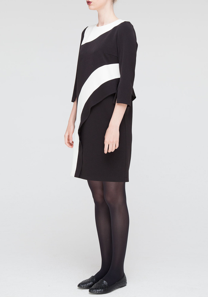 Black dress with white inserts Arsey
