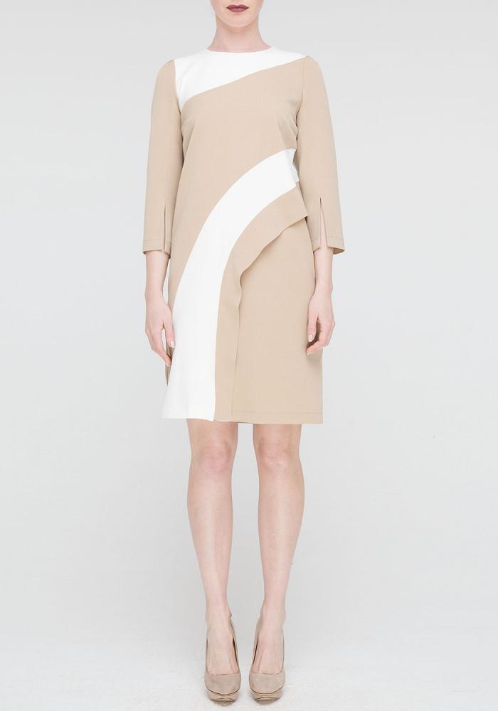 """Сукня """"Арсей"""" бежеве із кольоровими вставками"""