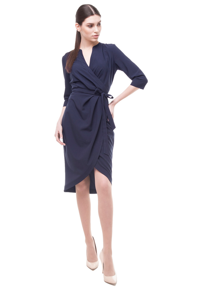 Blue dress  with a wrap Central
