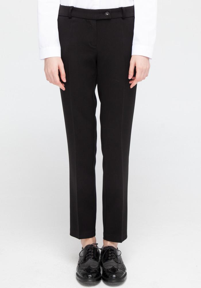"""Прямые брюки """"Баффи"""" черные"""