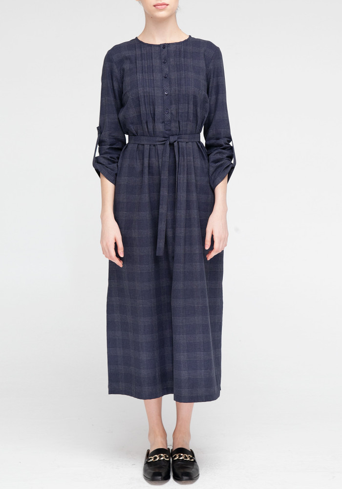 Checkered Consuelo shirt dress with belt