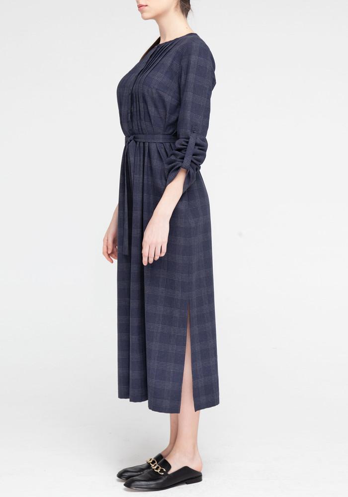 """Сукня-сорочка """"Консуела"""" в  клітинку з поясом"""