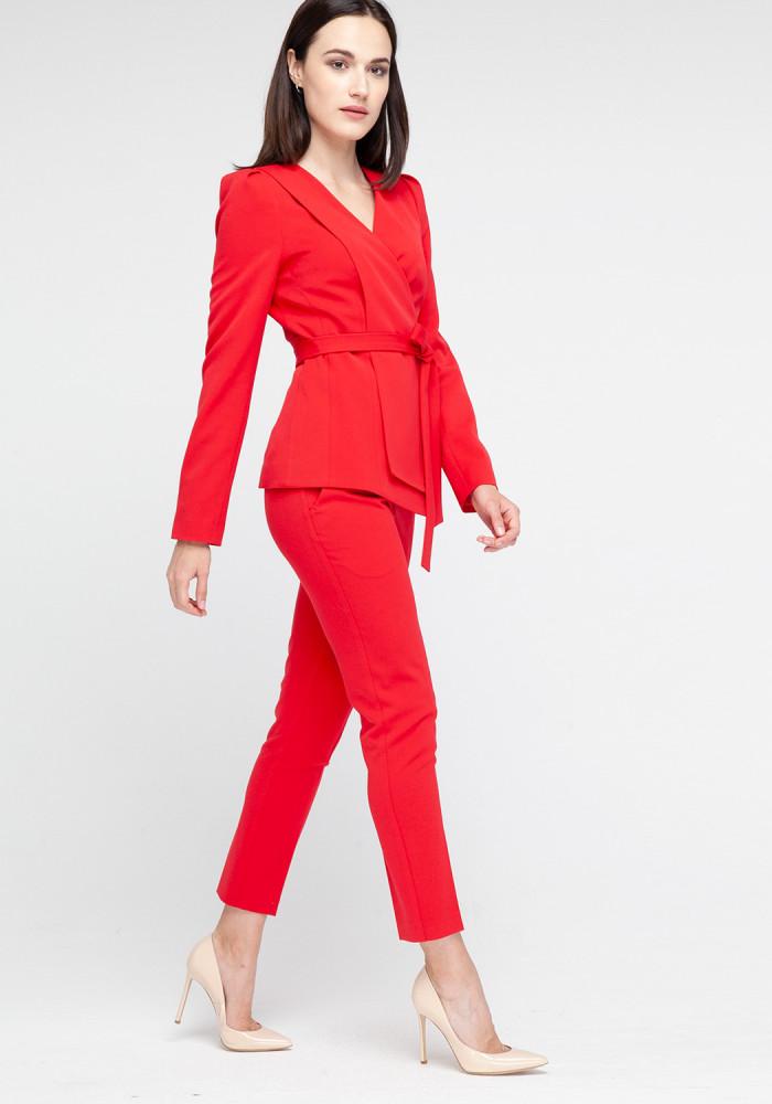 """Зауженные красные брюки """"Канти"""""""