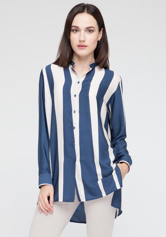 """Смугаста блуза """"Парма""""  блакитна"""