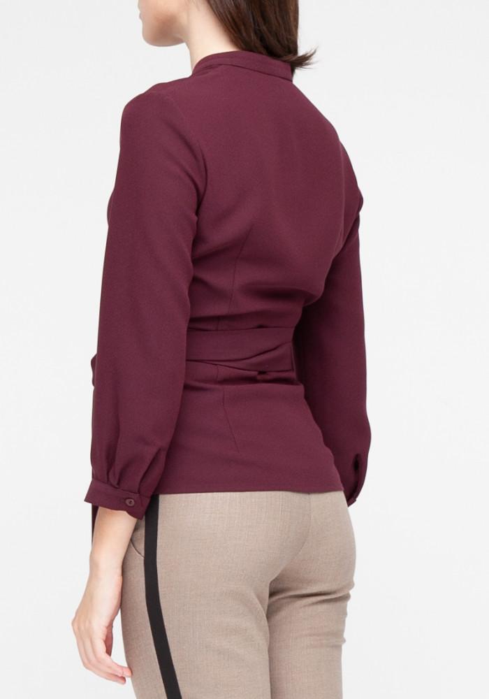 "Блуза бордового кольору на запах ""Стелла"""