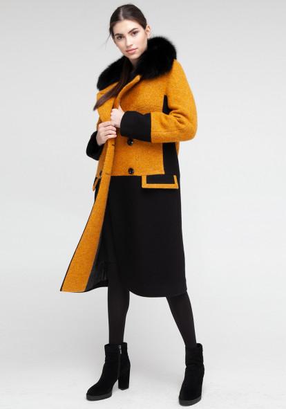 "Зимнее пальто ""Ирис"" янтарное"