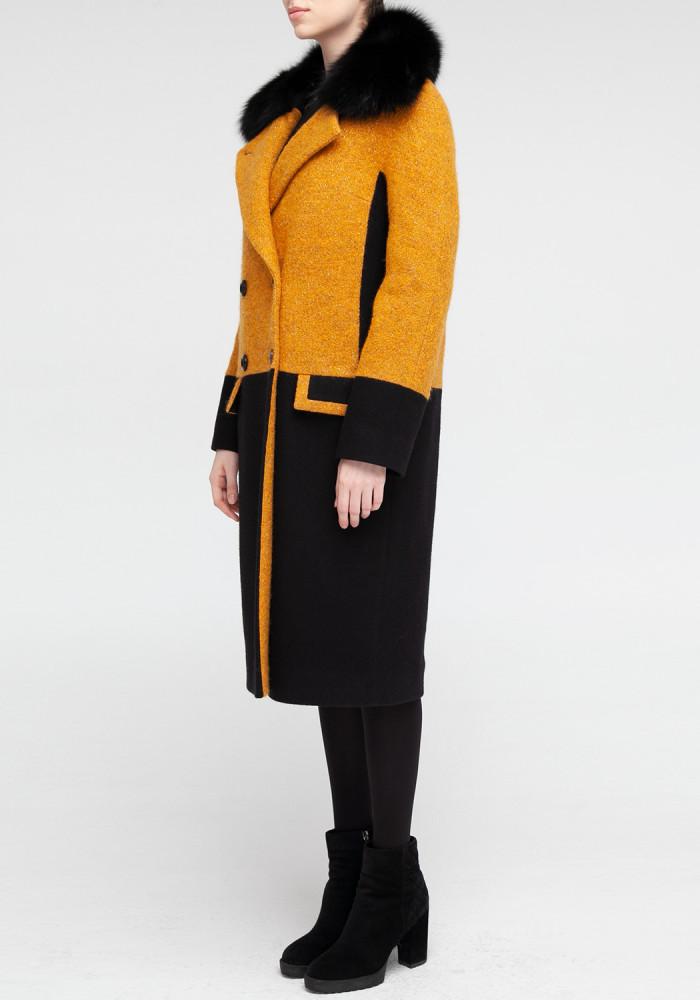Winter amber  coat  Iris