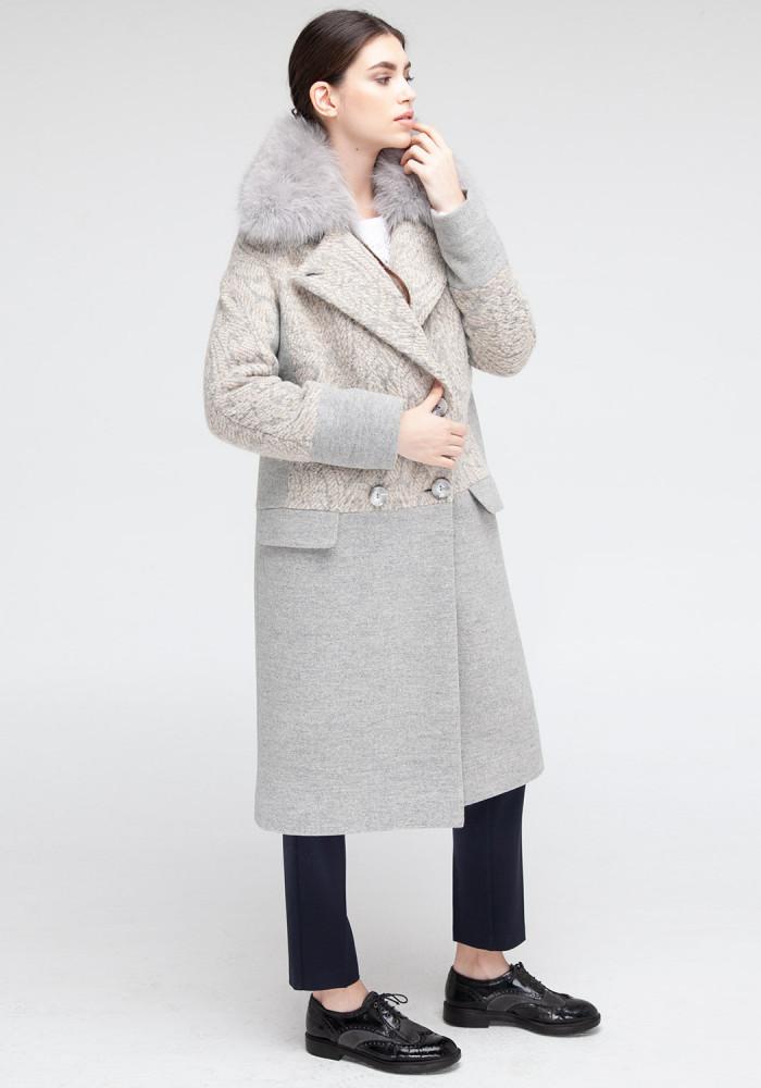 "Зимове пальто ""Ірис"" сіре"